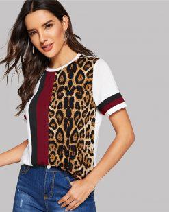 Leopard T-Shirt für Frauen 2019d