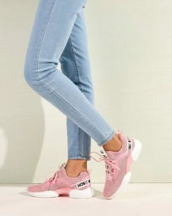 pink-einfarbig-bequem-sneakers